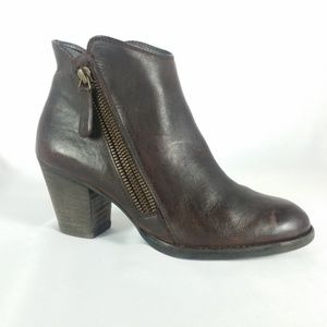 Paul Green Size 3/US 5.5 Brown Leather Bootie B6-4